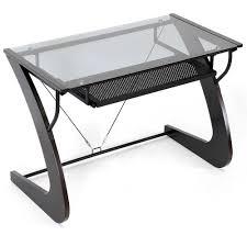 Computer Desk Sears White Desk With Glass Top Glass Top Office Desk Glass Desk Table