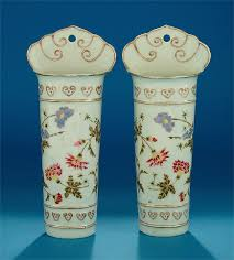 Chinese Vases History Pair Of Chinese Export Molded Famille Rose Wall Pockets Qianlong