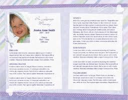 baby funeral program child funeral program