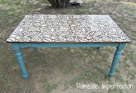 Table Top Ideas Painting Ideas With Stencils Diy Paisley Tabletop Stencil