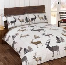 catherine lansfield stag tartan bedding range single double
