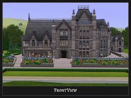 Gothic Homes Mod The Sims Stately Goth Manor Residential No Cc