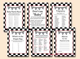 what s in the bag baby shower racing baby shower printable racing car baby shower