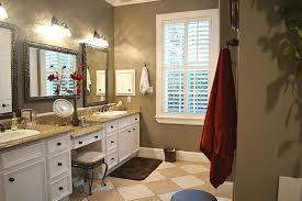 Bathroom Vanity With Makeup Station Awesome Bathroom Vanity With Makeup Counter In White Cabinet