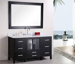 Black Vanity Modern Bathroom Vanity Single Sink Eva Furniture