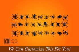 spider pack of 24 spiders for halloween home decor vinyl decal