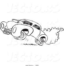 cartoon cars coloring pages vector of a cartoon dragster outlined coloring page by toonaday