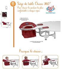 siège de table pour bébé siège de table 360 scarlet chicco