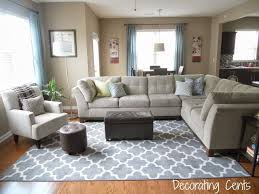 livingroom rug family room gray trellis rug sectional blue accents family