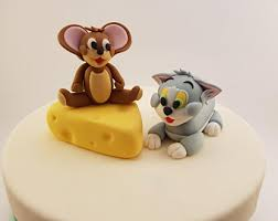 tom and jerry cake topper tom jerry topper etsy