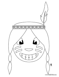 thanksgiving images to color indian boy coloring pages hellokids com