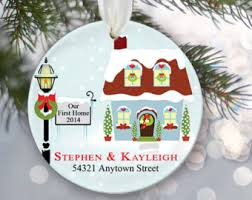housewarming gift our home ornament personalized