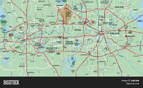 Map Dallas Dallas Fort Worth Metropolitan Area Map Stock Photo U0026 Stock