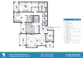 floor plan of saadiyat beach residences saadiyat island