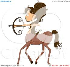 royalty free rf clipart illustration of a beautiful sagittarius
