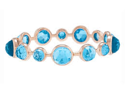 blue topaz bracelet white gold images Lisbon 14 stone blue topaz 18k rose gold bangle rad bijoux jpg
