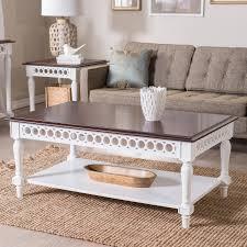 belham living jocelyn coffee table white walnut hayneedle