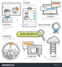 job search design concept cv resume stock vector 376940689
