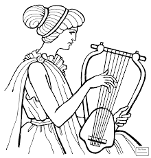 coloring pages for kids activities trumpet music musical
