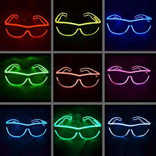 party sunglasses with lights el glasses el wire fashionable neon led light glowing sunglasses