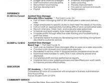 Fashion Retail Resume Examples General Cv Format Word Free Resume
