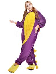 anime costumes for halloween kigurumi pajama dinosaur onesie for fleece flannel purple