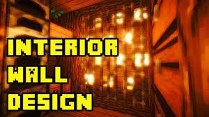 minecraft cool underground interior wall design ideas tutorial