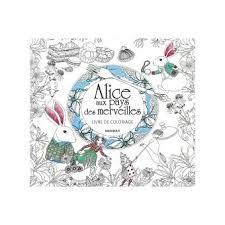 Alice au pays des merveilles Livre de coloriage  broché  Amily