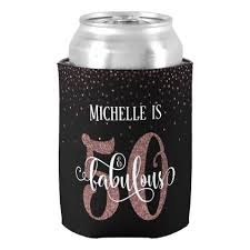 cool gifts 50 faux gold glitter festive 50 fabulous birthday can cooler fancy