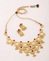 style gold necklace images Buy designer necklace sets vintage style gold jhankar necklace set jpg