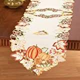 autumn harvest table linens amazon com dii 100 cotton machine washable printed kitchen