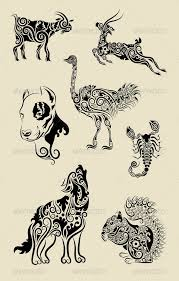 animals ornament symbol set by comicvector703 graphicriver