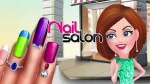 nail salon kids and girls game play android youtube