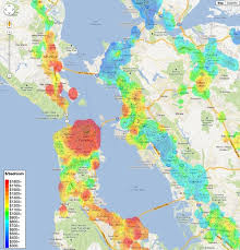map of ta bay rent heat map of the bay area charts infographics