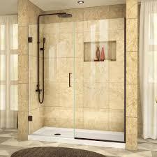 Dreamline Shower Doors Frameless Dreamline Unidoor Plus 57 In To 57 1 2 In X 72 In Semi