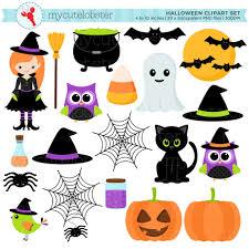 transparent halloween clipart halloween clipart set clip art set of witch cat halloween