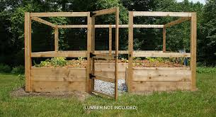 amazon com deer proof just add lumber vegetable garden kit 8
