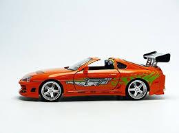 supra modified jada toyota supra 1995 orange brian u0027s car fast and furious 1 24