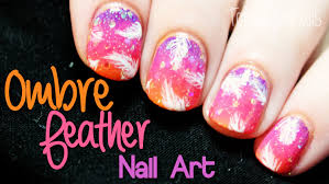 create this beautiful u0026 easy to do fantasy feather nail art