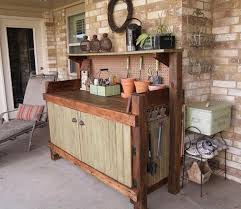 Outdoor Potters Bench Pallet Potting Bench Plans Pallet Wood Projects