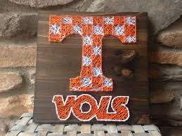 home decor etsy tennessee vols wood sign string art home decor coaches gift
