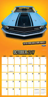 amazon early black friday 2017 november 20 2017 vintage ford mustangs wall calendar ford 9781624387548