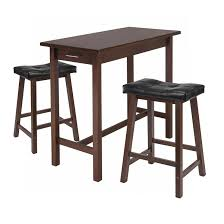 amazon com winsome kitchen island table with 2 cushion saddle view larger
