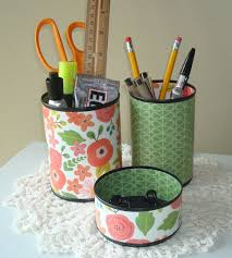 Floral Desk Accessories Coral And Green Whimsical Floral Desk Accessories Pencil Holder