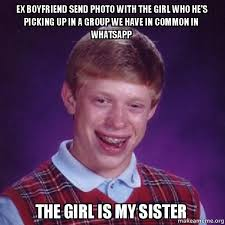 Ex Boyfriend Meme - ex boyfriend send photo with the girl who he s picking up in a
