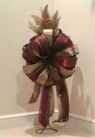 tree topper bow large luxury tree bow bronze gold