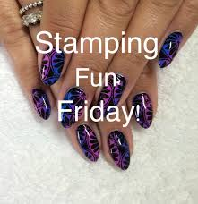 stamping fun friday gradient moyou stamped shellac nails youtube