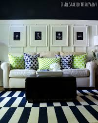 How To Decorate A Large Wall In Living Room by Spring Decor Ideas In Navy And Yellow It All Started With Paint