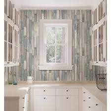 Barn Board Bathroom Brewster Barn Board Grey Thin Plank Wallpaper Fd23273 The Home Depot