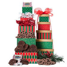 christmas gift baskets free shipping the treat tower gr free shipping gourmet gift baskets for all